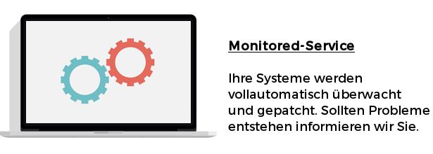 Monitored-Service Ihre Systeme werden vollautomatisch überwacht und gepatcht. Sollten Probleme entstehen informieren wir Sie.