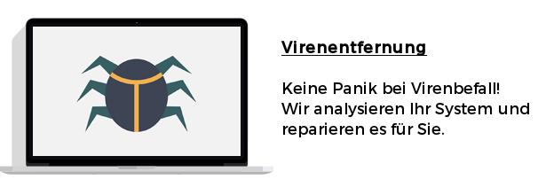 Virenentfernung - Keine Panik bei Virenbefall! Wir analysieren Ihr System und reparieren es für Sie.